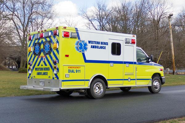 ambulance remount sales in PA - Glick Fire Equipment - passenger rear