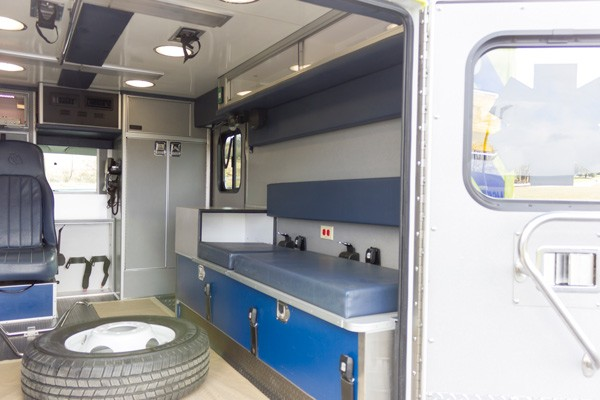 ambulance remount sales in PA - Glick Fire Equipment - module interior passenger side