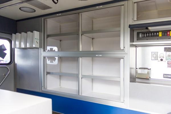 ambulance remount sales in PA - Glick Fire Equipment - module interior cabinets