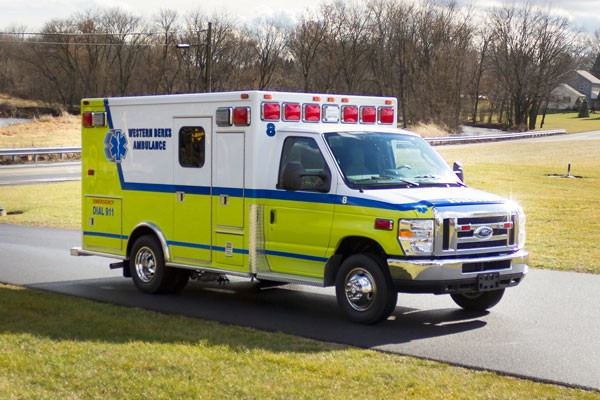 ambulance remount sales in PA - Glick Fire Equipment - passenger front