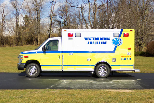ambulance remount sales in PA - Glick Fire Equipment - driver side