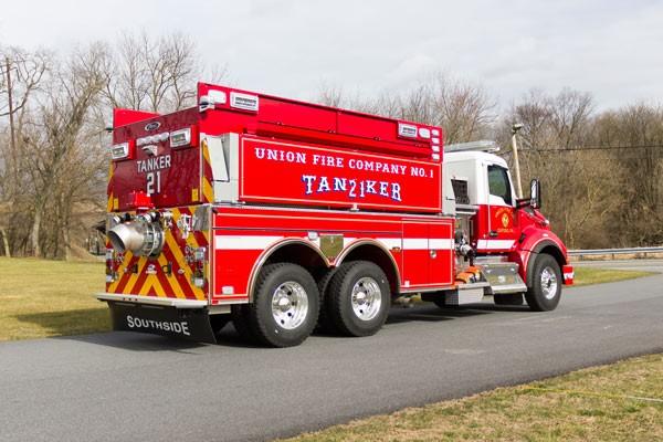 new 2016 Pierce commercial fire tanker sales in PA - Glick Fire Equipment - passenger rear