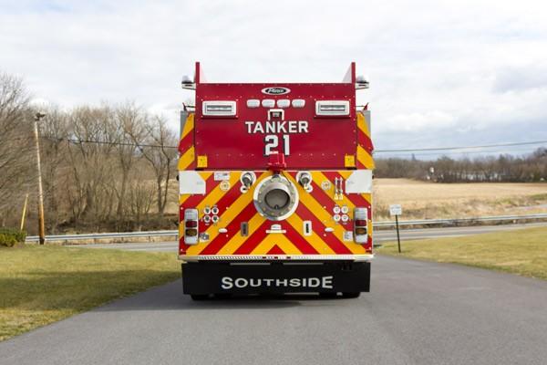 new 2016 Pierce commercial fire tanker sales in PA - Glick Fire Equipment - rear