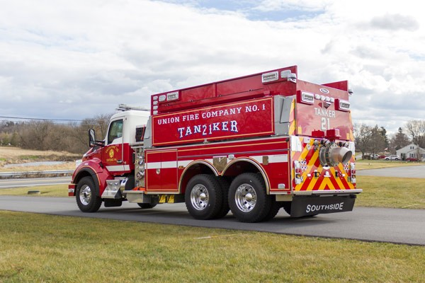 new 2016 Pierce commercial fire tanker sales in PA - Glick Fire Equipment - driver rear