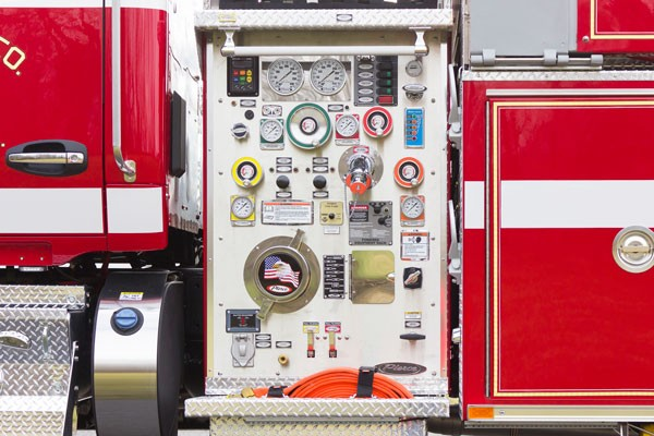 new 2016 Pierce commercial fire tanker sales in PA - Glick Fire Equipment - pump panel