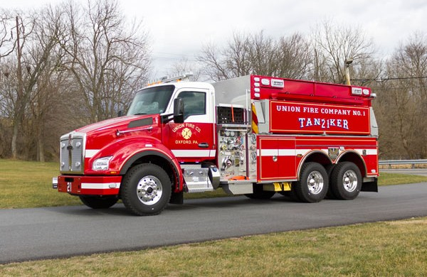 new 2016 Pierce commercial fire tanker sales in PA - Glick Fire Equipment - driver front