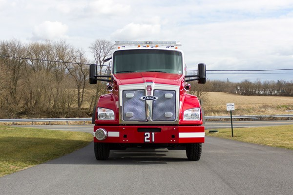 new 2016 Pierce commercial fire tanker sales in PA - Glick Fire Equipment - front