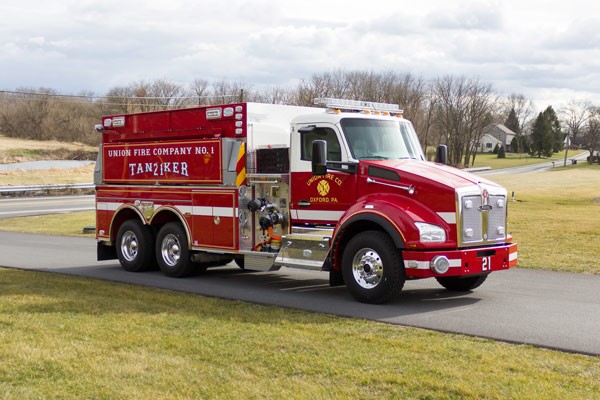 new 2016 Pierce commercial fire tanker sales in PA - Glick Fire Equipment - passenger front