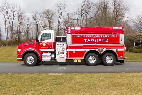 new 2016 Pierce commercial fire tanker sales in PA - Glick Fire Equipment - driver side