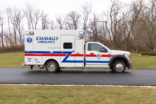 new Braun type 1 ambulance sales in Pennsylvania - passenger side