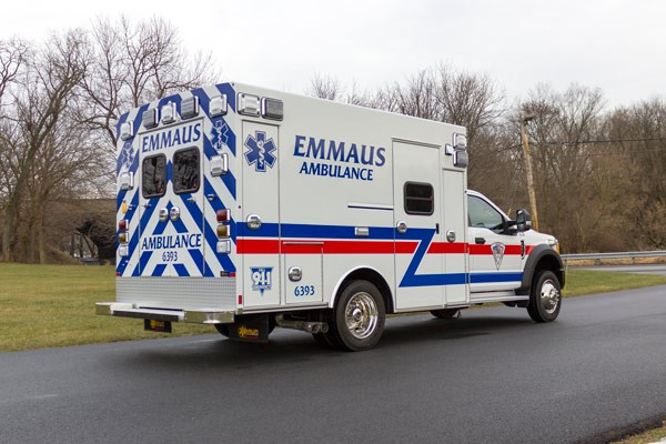 new Braun type 1 ambulance sales in Pennsylvania - passenger rear
