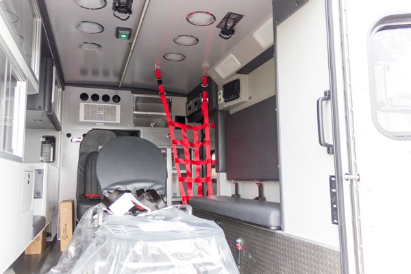 new Braun type 1 ambulance sales in Pennsylvania - patient module interior passenger side
