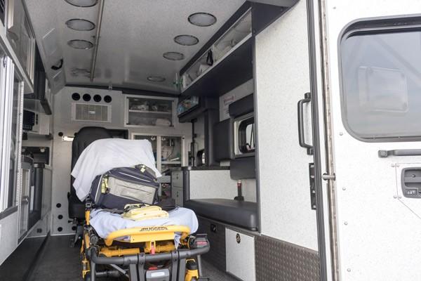 module interior passenger side - type 1 ambulance sales in PA - Braun Liberty - Glick Fire Equipment
