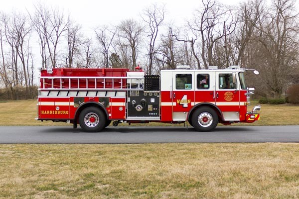 2017 Pierce fire engine pumper - emergency vehicle sales service in Pennsylvania - passenger side