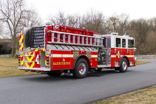 2017 Pierce fire engine pumper - emergency vehicle sales service in Pennsylvania - passenger rear