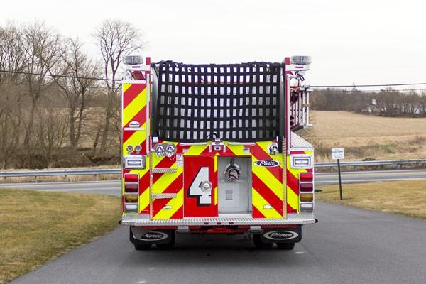 2017 Pierce fire engine pumper - emergency vehicle sales service in Pennsylvania - rear