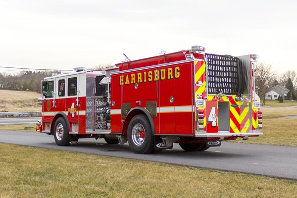 2017 Pierce fire engine pumper - emergency vehicle sales service in Pennsylvania - driver rear