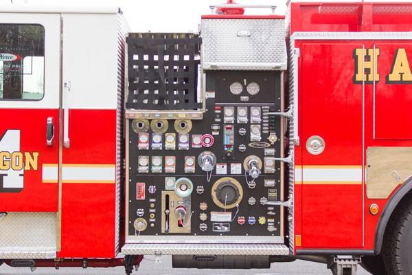 2017 Pierce fire engine pumper - emergency vehicle sales service in Pennsylvania - pump panel