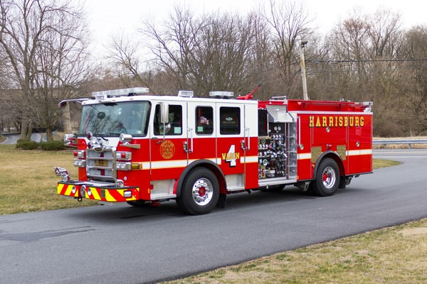 2017 Pierce fire engine pumper - emergency vehicle sales service in Pennsylvania - driver front