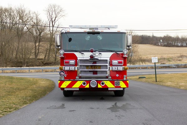 2017 Pierce fire engine pumper - emergency vehicle sales service in Pennsylvania - front