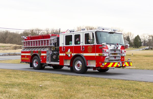 2017 Pierce fire engine pumper - emergency vehicle sales service in Pennsylvania - passenger front