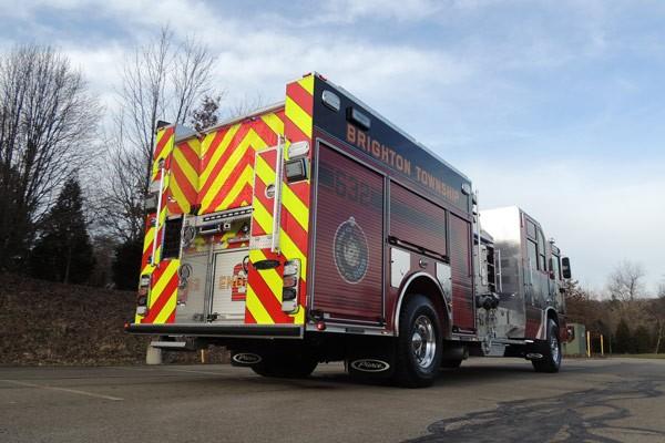2017 Pierce Quantum pumper - fire engine sales and service - passenger rear