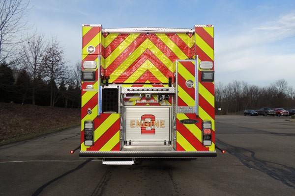 2017 Pierce Quantum pumper - fire engine sales and service - rear
