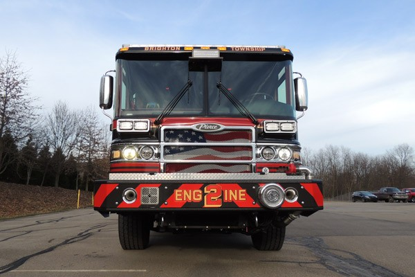 2017 Pierce Quantum pumper - fire engine sales and service - front