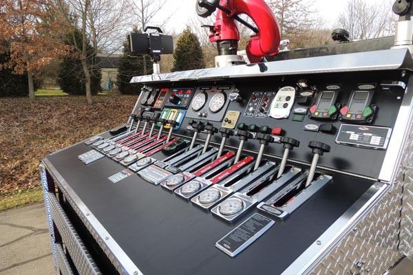 2017 Pierce Quantum pumper - fire engine sales and service - top mount pump control panel