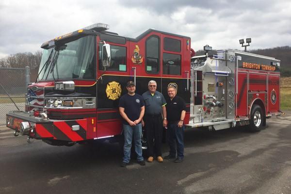 2017 Pierce Quantum pumper - fire engine sales and service - delivery