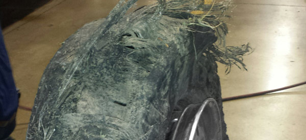 example of dry rot tire blowout