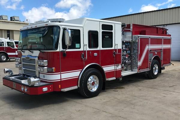 driver front - Pierce Enforcer demo fire engine