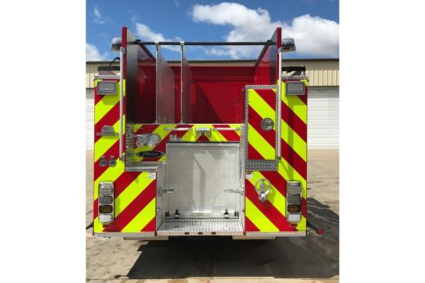 rear hosebed - Pierce Enforcer demo fire engine