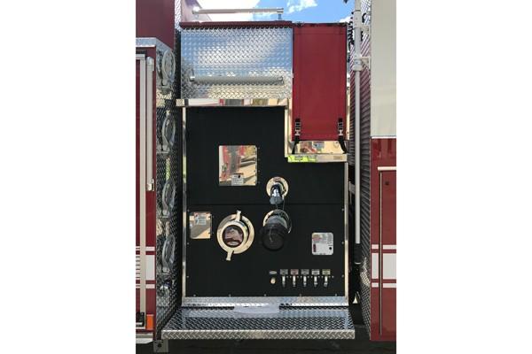 passenger side pump panel - Pierce Enforcer demo fire engine