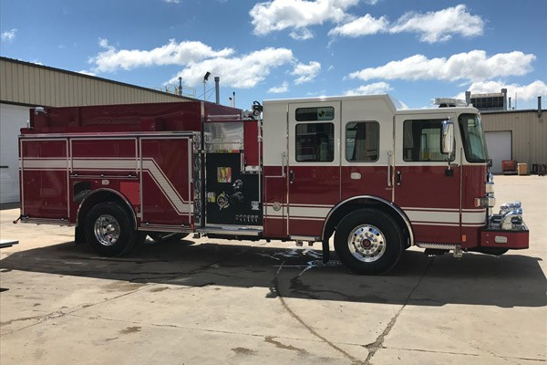 passenger side - Pierce Enforcer demo fire engine