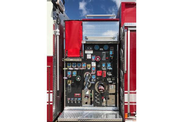 driver side pump panel - Pierce Enforcer demo fire engine