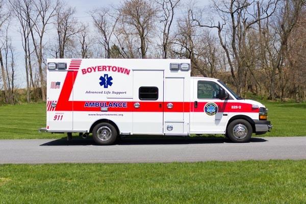 new 2017 Braun Chief XL type III ambulance - passenger side