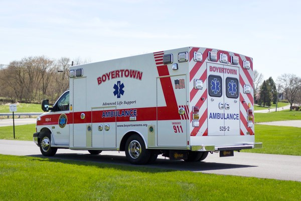 new 2017 Braun Chief XL type III ambulance - driver rear