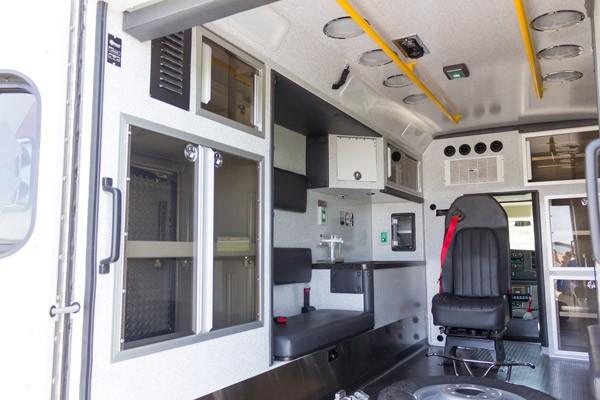 new 2017 Braun Chief XL type III ambulance - module interior driver side