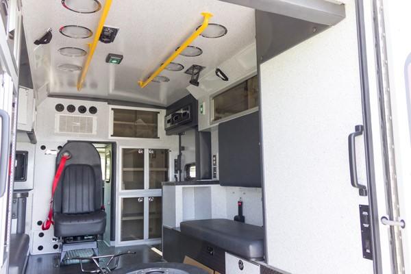 new 2017 Braun Chief XL type III ambulance - module interior passenger side