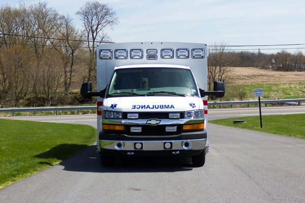 new 2017 Braun Chief XL type III ambulance - front