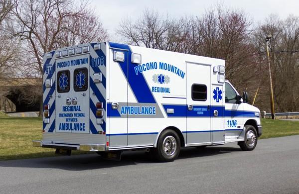 new 2017 Braun Type III ambulance sales in PA - passenger rear