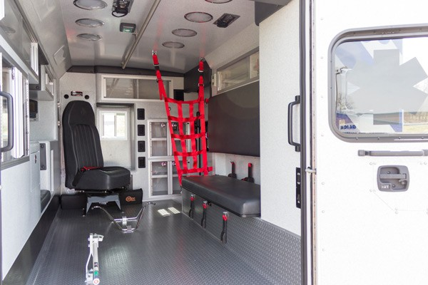 new 2017 Braun Type III ambulance sales in PA - module interior passenger side