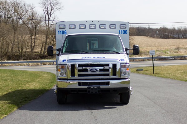 new 2017 Braun Type III ambulance sales in PA - front