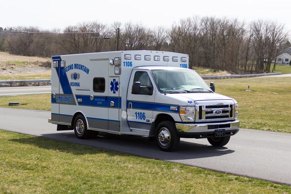 new 2017 Braun Type III ambulance sales in PA - passenger front