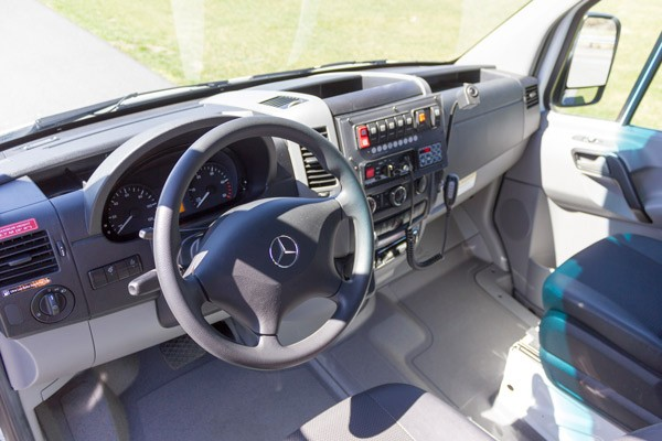 2017 Demers Mirage LT2E type II ambulance - cab interior