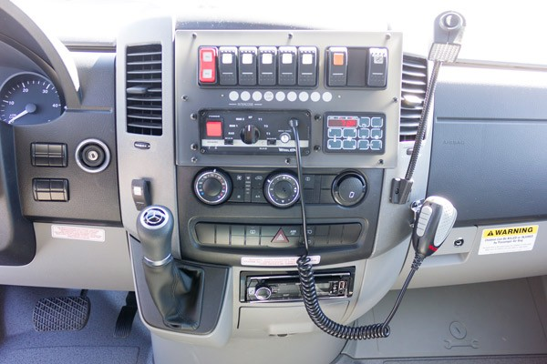 2017 Demers Mirage LT2E type II ambulance - light and siren controls detail