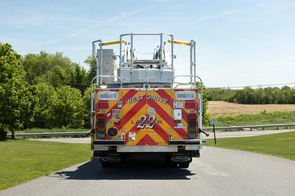 2017 Pierce Arrow XT - new fire truck sales in PA - rear