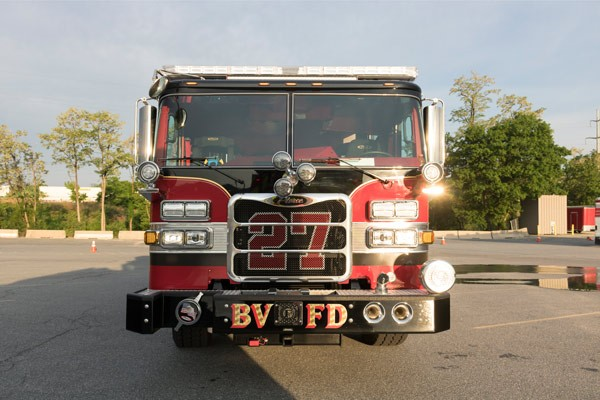 new rescue pumper in PA - 2017 Pierce Arrow XT fire rescue engine - front