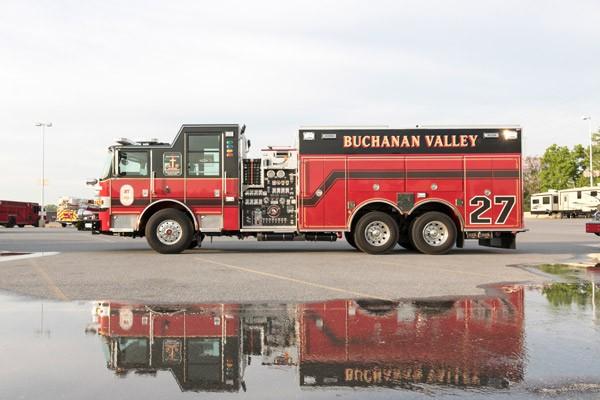 new rescue pumper in PA - 2017 Pierce Arrow XT fire rescue engine - driver side